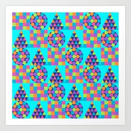 Circle Square Triangle Art Print