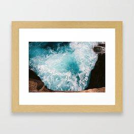 Spitting Caves Framed Art Print