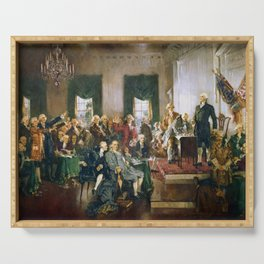 The Signing of the Constitution of the United States - Howard Chandler Christy Serving Tray