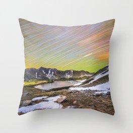 Loveland pass star trails Throw Pillow