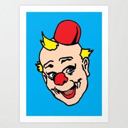 clown art, clown illustration, clown pop art, home decor Art Print