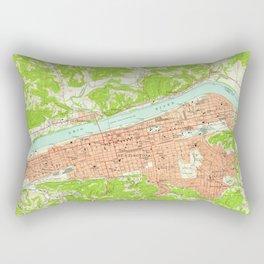 Vintage Map of Huntington West Virginia (1957) Rectangular Pillow