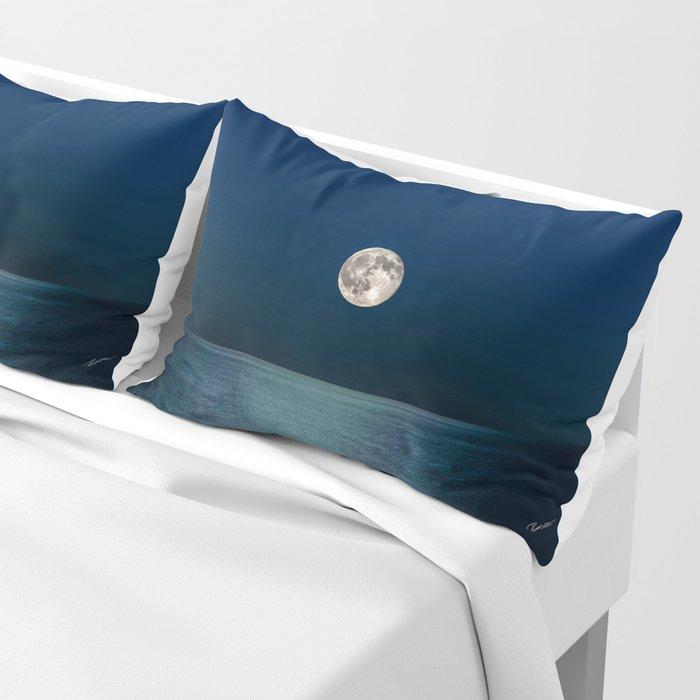 Moon Rising Over Lake Michigan Pillow Sham