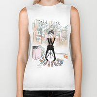 shoe Biker Tanks featuring Shoe Boutique by Sonya Parra