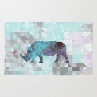 rhino Area & Throw Rugs featuring Rhino by Dnzsea