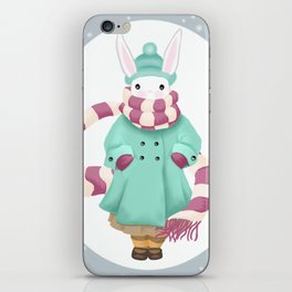 Bunny Sister Out On a Winter Day iPhone Skin
