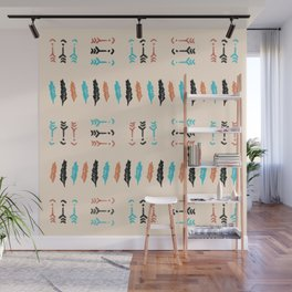 Arrows and Feathers Wall Mural
