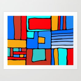 Cargo Ship Containers 10 Art Print