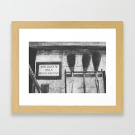 INN Guest Only Framed Art Print