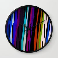 reggae Wall Clocks featuring African Reggae by Cristina Lobo