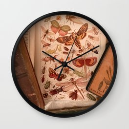 Vintage Insects 2 Wall Clock