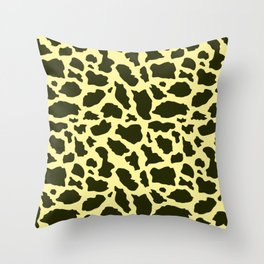 Giraffe paatern 3 Throw Pillow