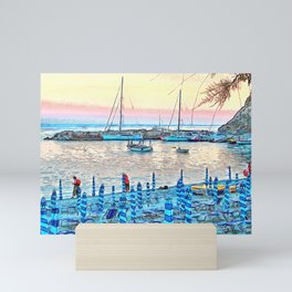 Afternoon Sunset in Monterosso Mini Art Print