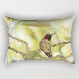 Sweet Hummingbird - Photography Rectangular Pillow