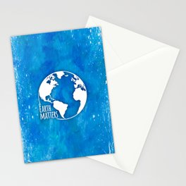 Earth Matters - 01 Blue Watercolors Stationery Cards