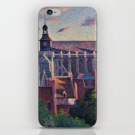 Cathedral at Gisors, View of the Ramparts, Paris, France by Maximilien Luce iPhone Skin