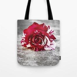 Variegated Rose on Concrete Tote Bag