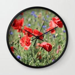 poppy flower no9 Wall Clock