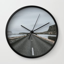 Empty Road - A Love Story Wall Clock