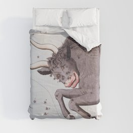 Antique Taurus Constellation Map Comforters