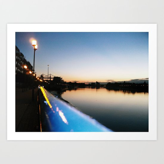 Thames at night Art Print