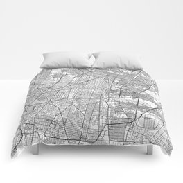Mexico Map Line Comforters