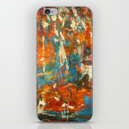 An Oasis In A Desert Abstract Painting iPhone Skin