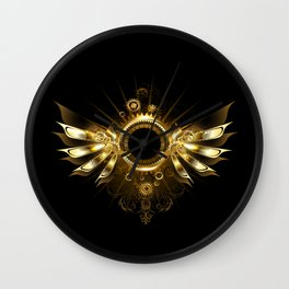 Mechanical Wings ( Steampunk Wings ) Wall Clock