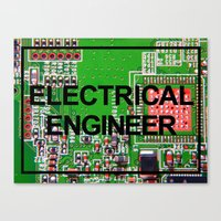engineer Canvas Prints featuring Electrical Engineer by EEShirts
