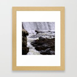 Lowell Tannery Hydro Dam Spring Rush Framed Art Print