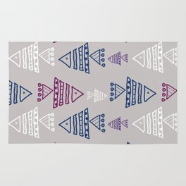 Fish ornament on light grey background Rug
