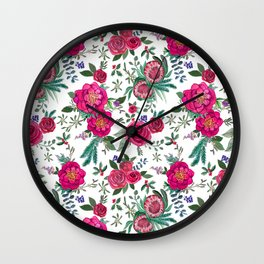 Fall Floral / Autumn flowers Wall Clock