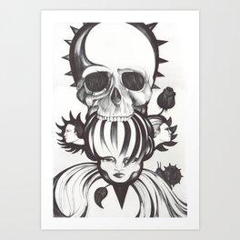 El mordisco de la calavera Art Print