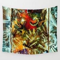 metallic Wall Tapestries featuring Metallic by Vargamari