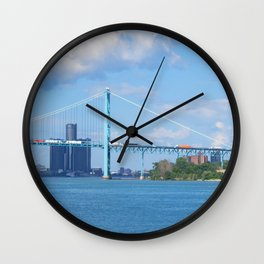 Detroit River Bend Wall Clock