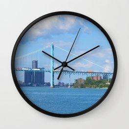 Detroit River Bend Wall Clock