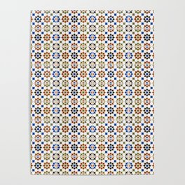 Seamless Pattern Oriental Style 1 Poster