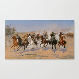 A Dash for the Timber - Frederic Remington Canvas Print