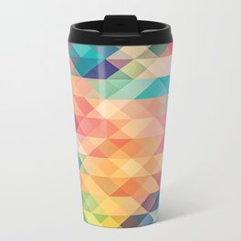 Colorful polygons Metal Travel Mug