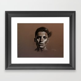 She left Framed Art Print