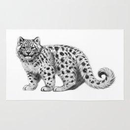 Snow Leopard cub g142 Rug