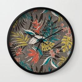 Bali Tropics - Cabana Wall Clock