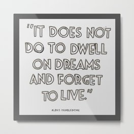 Harry Potter Quote #3 Metal Print