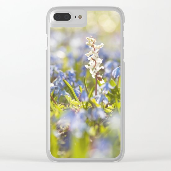 Spring flower meadow - Colorful flowers -floral on #Society6 Clear iPhone Case
