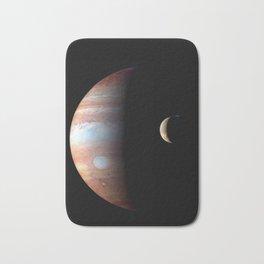 Cool Colorful Jupiter and Io Bath Mat