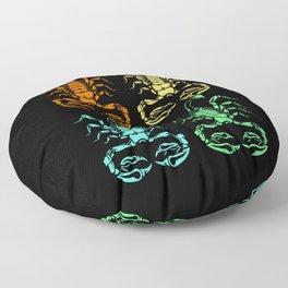 Scorpion Team Squad Colorful Scorpio Stinger Floor Pillow