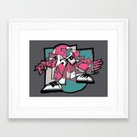 sneaker Framed Art Prints featuring Sneaker Guy by 5wingerone