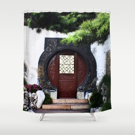 The Round Red Door Shower Curtain