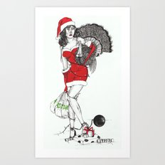 Tangled up in Christmas Art Print