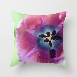 Pigment Tulip (indigo tones) Throw Pillow